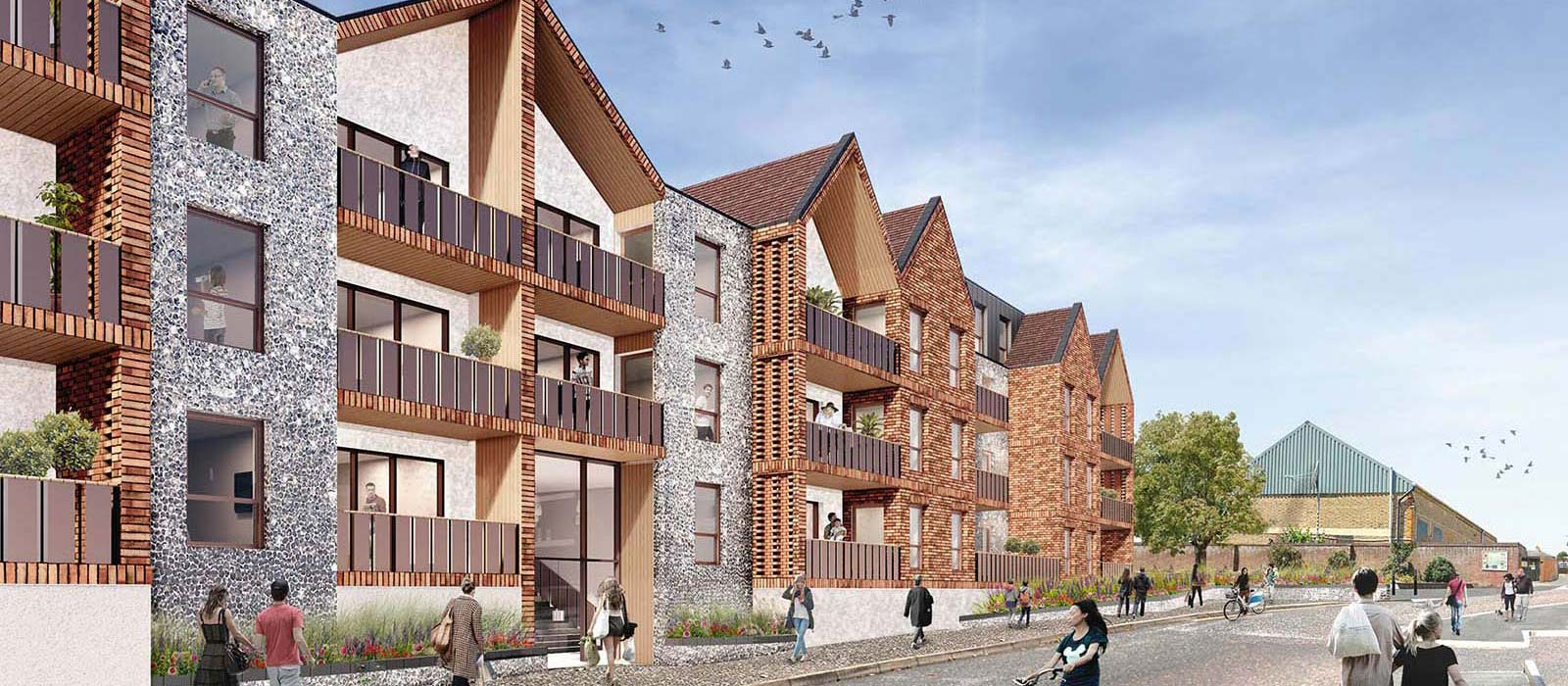 Residential Scheme Littlehampton artists impression
