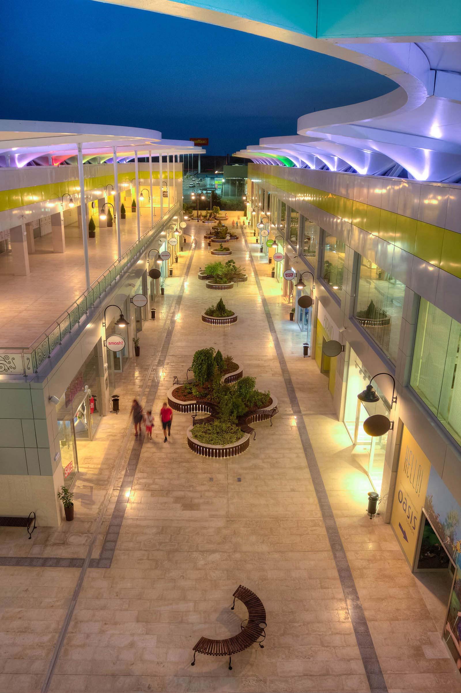 Open Air Retail Mall architects bulgaria